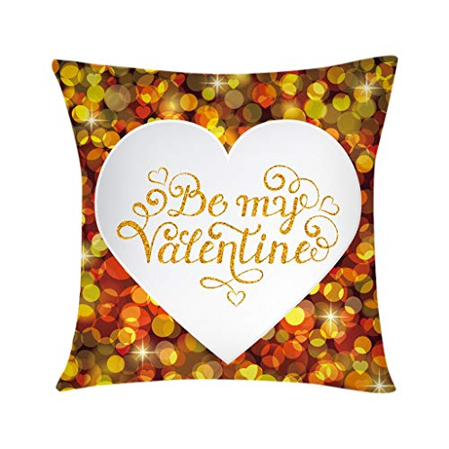 scamper Valentine's Day Throw Pillow Covers DIY Romantic Red Heart Cushion Pillowcase Loves You Decorative Case 45X45cm