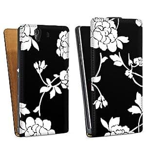 Diseño para Sony Xperia Z L36h DesignTasche Downflip black - Funeral