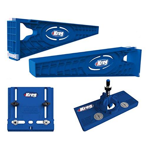 Kreg Tool Company - Drawer Slide Jig with Cabinet Hardware Jig and Concealed Hinge Jig - KHI-SLIDE, KHI-PULL, (Concealed Hinge Jig)