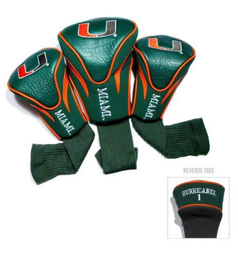 Amazon com : Miami Hurricanes Contour Fit Headcover Set : Golf Club