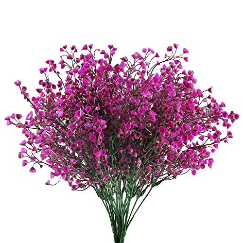 HUAESIN 4pcs Flores Artificiales Decoracion Jarrones Plastico Flor Artificial Narciso Falso Rama de Arbusto Artificial Ramo Flores para Exterior Interior Jardinera Fiesta Maceta Balcon Primavera