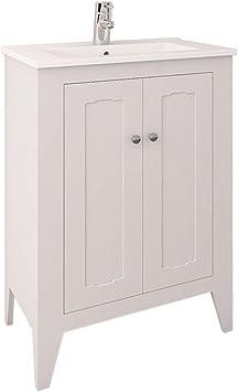 Randalco 24 Inch Vintage Bathroom Vanity Cabinet Set White 24 X 35 X 18 Bathroom Vanity And Sink Combo Amazon Com
