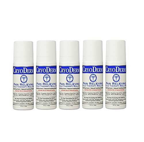 Cryoderm Pain Relieving Roll-on, 3oz. - Special 5 Pack by Cryoderm