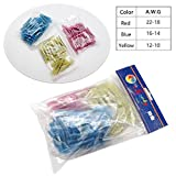 125pcs Wire Connectors, Sopoby Heat Shrink Wire Connector Kit Waterproof Assorted Crimp Connector Electrical Set, 22-10GA(50Red 50Blue 25Yellow)