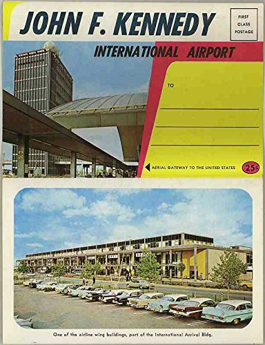 John F. Kennedy International Airport New York - 1964 Dexter Press Souvenir Postcard Folder