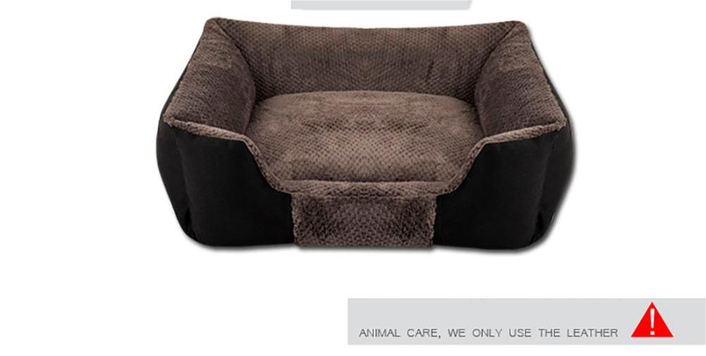 Coffee Medium coffee Medium DAN Washable Premium Dog and Cat Bed Puppy and Kitty Orthopedic Pet Sofa Bed with Removable Washable Cover