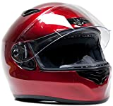 Free Smoke Shield with Purchase! Snell M2015 Approved DOT Full Face Helmet Motorcycle Street Racing ( XXL - Red )
