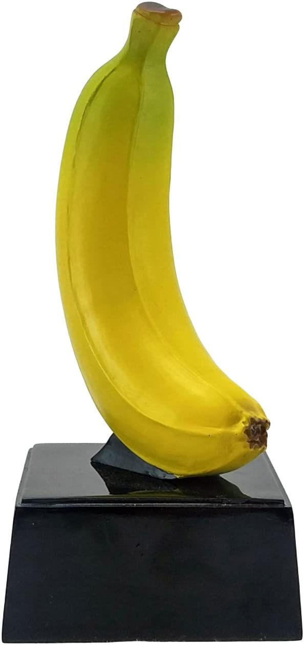 Decade Awards Banana Trophy on Black Base -Top Banana Award - 7 Inch Tall - Engraved Plate on Request