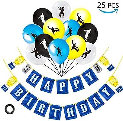 Amazon.com: Videojuego cumpleaños fiesta suministros de 24 ...