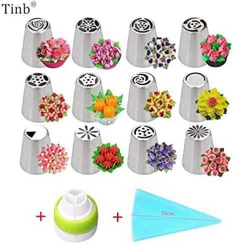 Lot de 14 douilles tulipes russes en acier inoxydable pour gla/çage de g/âteaux