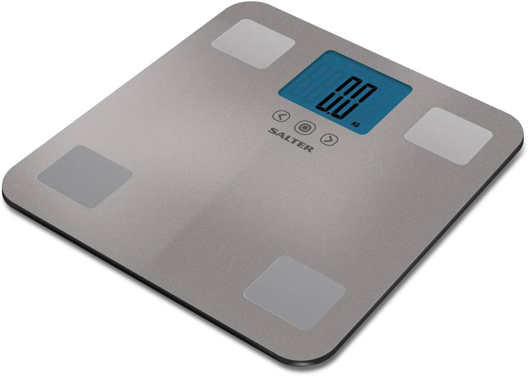 Purple Digital LCD Display Body Fat Analyser Scales BMI Glass Scale Max 180kg UK