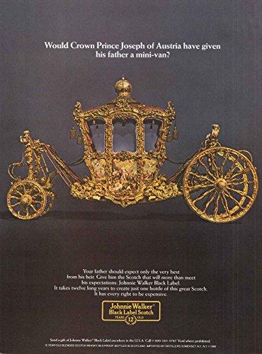 Johnnie Walker Gold Label - 1986 Johnnie Walker Black Label Scotch: Gold Carriage, Johnnie Walker Print Ad