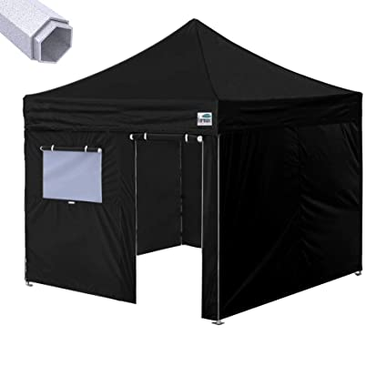 hot sales 8140a 27d25 Eurmax Premium 10'x10' Ez Pop-up Canopy Tent Commercial Instant Shelter  with Removable Sidewalls Bonus Wheeled Carry Bag (Black)