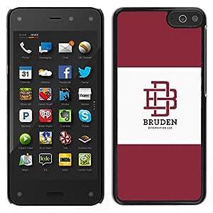 Universidad Marca Castaño Logo Estudiante- Metal de aluminio y de plástico duro Caja del teléfono - Negro - Amazon Fire Phone