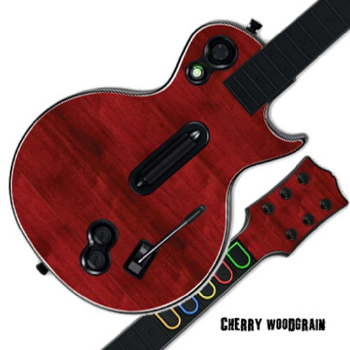 Mightyskins Protective Skin Decal Cover Sticker for GUITAR HERO 3 III PS3 Xbox 360 Les Paul - Cherry (Wood Phone Faceplates)