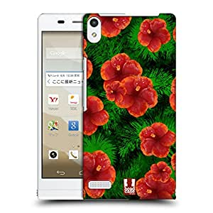 Head Case Designs Floral Hibiscus Tropical Paradise Protective Snap-on Hard Back Case Cover for Huawei Stream S 302HW LTE