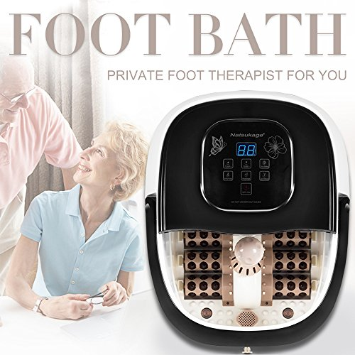 All-in-one Foot Spa Bath Massager with Heat, Automatic Massage Rollers, Digital Temperature & Time Control, LED Display
