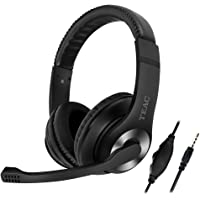 Teac GHM004 Wired Gaming Headset with Mic, Black/Silver