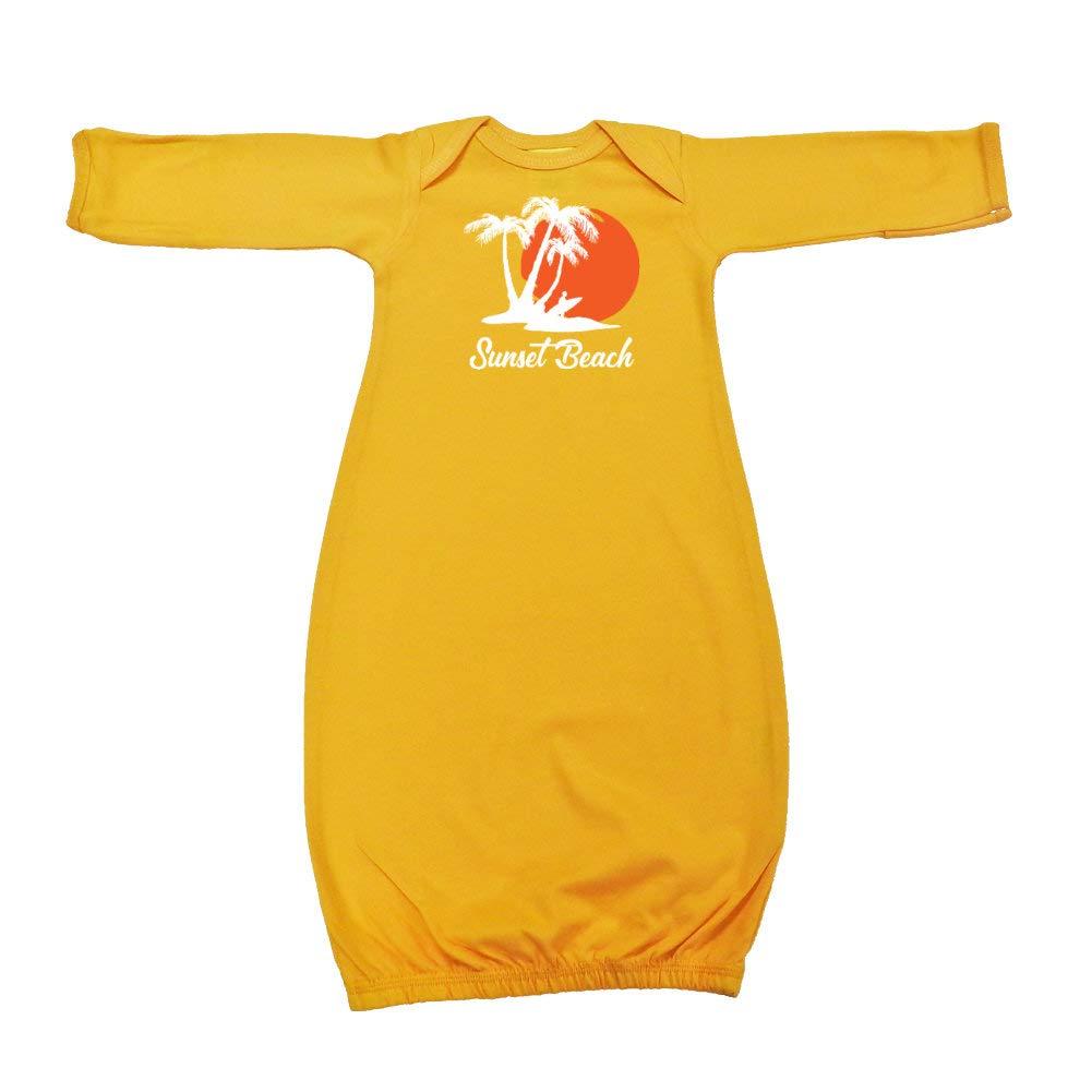 Sunset Beach Beach Sunset Surfer Baby Cotton Sleeper Gown