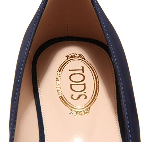 scarpe TOD'S ballerine Blu shoes donna blu women clamp pelle 8002L accessorio 6PA7x6