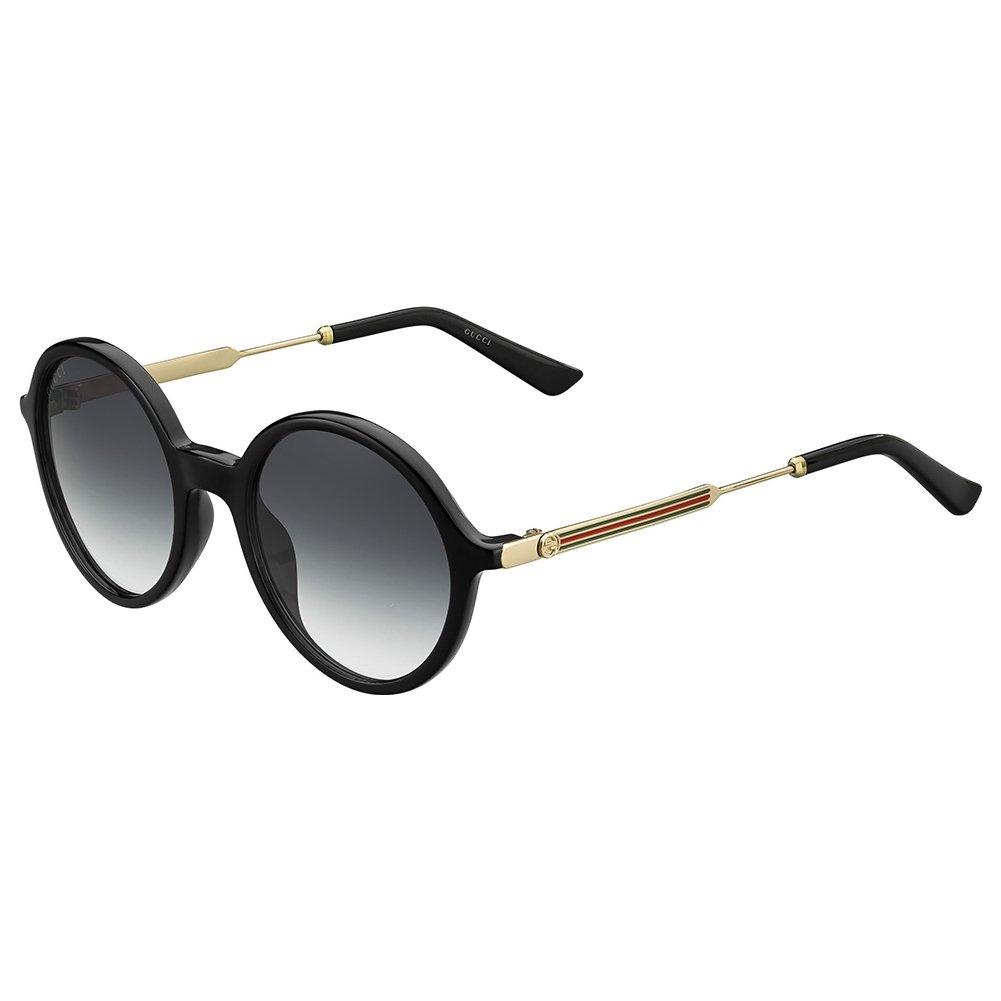 75c0a306bb6 Gucci GG3865-S-6UB-9O-51 Ladies GG 3865-S 6UB 9O Shiny Black Gold Sunglasses   Amazon.co.uk  Clothing