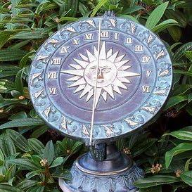Jardín Reloj de sol de ensueño Decoración para el jardín – Helios, bronce: Amazon.es: Jardín