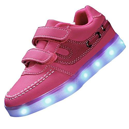 Clignotante Pour Chaussures Gratuite Couleurs Chargeur Scratch Avec Livraison Multicolore Usb Rechargeable Rapide Enfant Lumineuse 7 Led Velcro XOikZwPuT