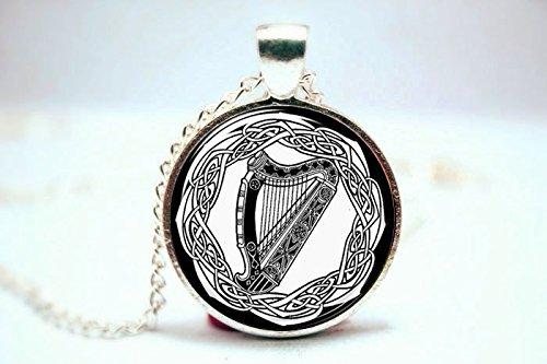 Pretty Lee 2015 Fashion Celtic Harp Pendant Black And Whi...