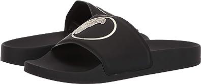 d75980d08 Versace Collection Men s Medusa Pool Slide Black Light Gold Black 41 ...