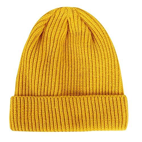Invierno Cálido Gorros Mujer Casuales 6 Punto De De Tejida FANQIANNAN De Sombrero Hombre Sombreros Punto Gorrita 1 De xqXpRwS