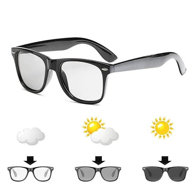 24 JOYAS Gafas de Sol Polarizadas Fotocromáticas con Funda y Gamuza – Gafas de Pasta