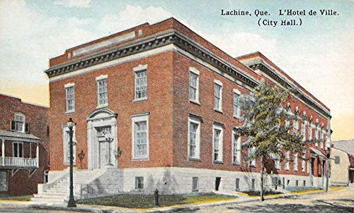 Lachine Quebec Canada City Hall Street View Antique Postcard K101886 (City Canada Hall)