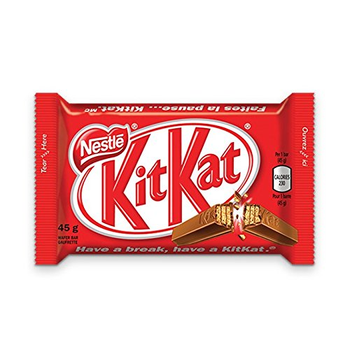 Nestle Peanut Free - Lot of 10 KIT KAT Chocolate Candy Bars 45 Grams Each From Canada