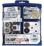 Dremel 725 EZ SpeedClic Multi Purpose Tool Accessory Kit for Rotary Tools - 70 Accessories for Cutting, Carving, Sanding…