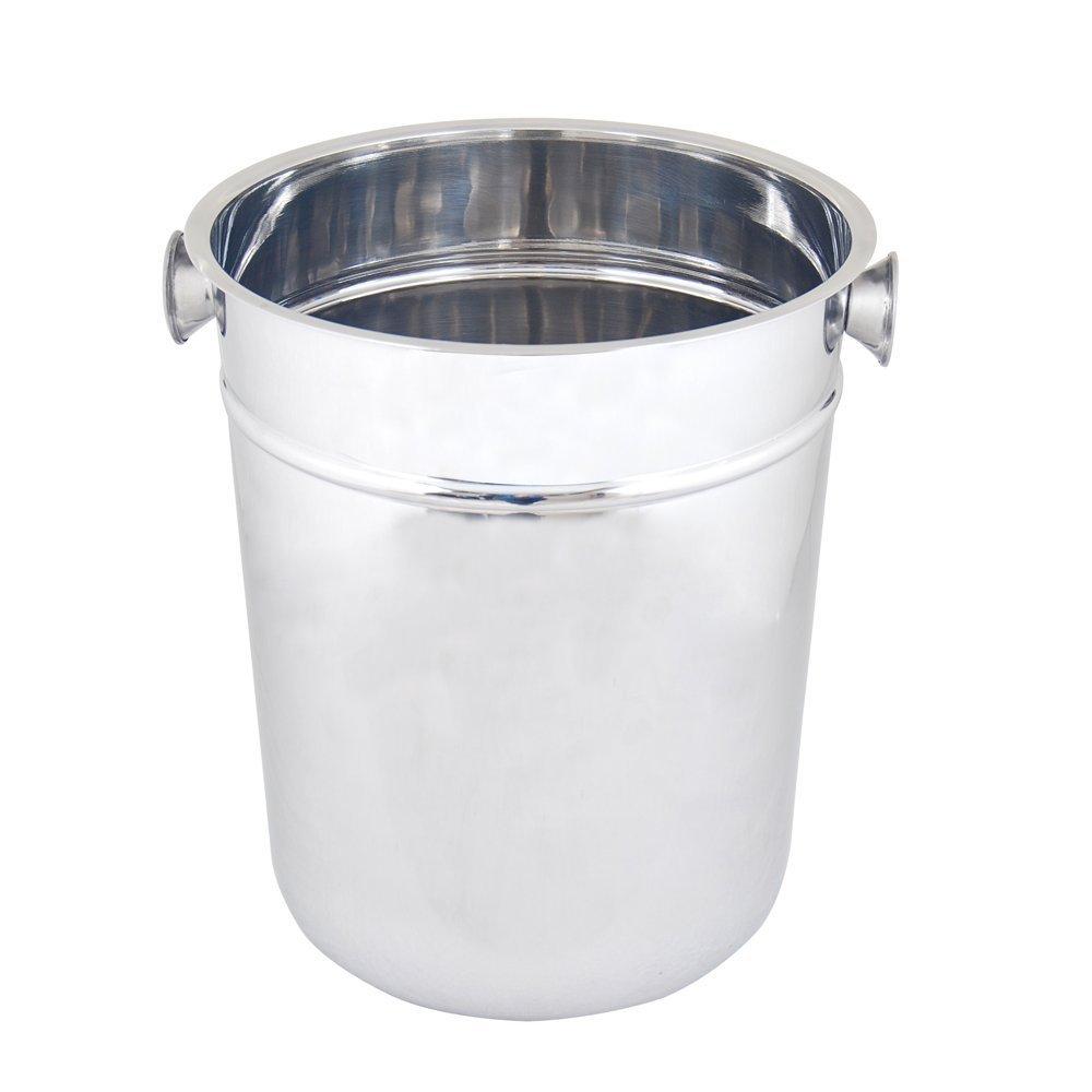Kosma Acero inoxidable cubo de champ/án con Stand Bebidas Cuchara Cuchara de hielo