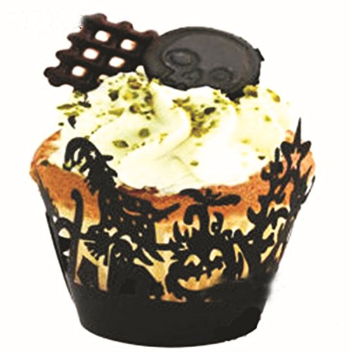 Better-way 120pcs Halloween Cupcake Wrapper Hollow Out Bake