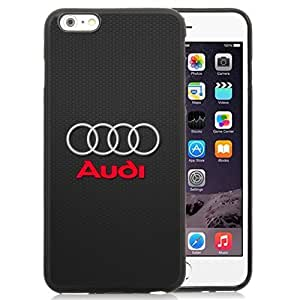 Easy Set,Customized Iphone 6 Plus Case Design with Audi Logo Iphone 6 Plus 5.5 Inch Black Cell Phone Case