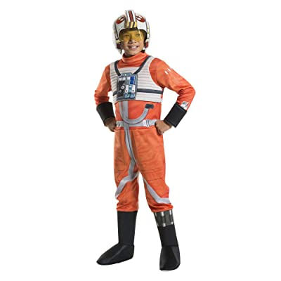 Rubie's Star Wars Boys' X-Wing Fighter Pilot Deluxe Costume (Multicolor, Medium): Clothing