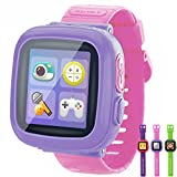 GBD Kids Game Smart Watches [AR Pro Edition] for Boys Girls with Pedometer Timer Camera Wristwatch Alarm Fitness Tracker Sport Watch Indoor Outdoor Children Learning Toy Christmas Gifts (Pink)