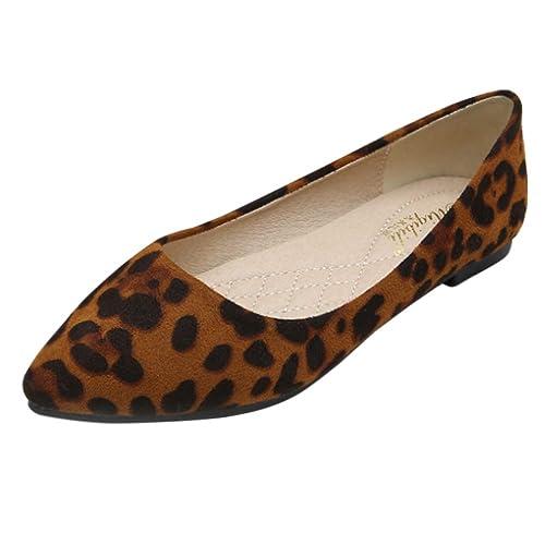 Huatime Zapatos Mujer Bailarinas - Plano Estampado de Leopardo Gamuza Punta  Puntiaguda Bombas Suave Sencillo Mocasines Confort Caminar Trabajo  Amazon. es  ... d76feeeac2d6f