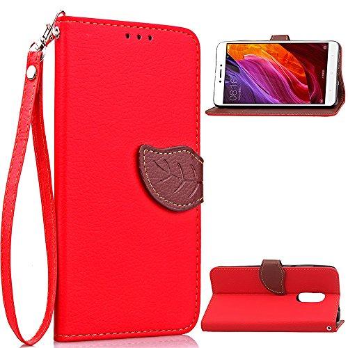 SRY-Caso sencillo Para Xiaomi Hongmi Redmi Nota 4 y cubierta de la caja de la nota 4X, con el acollador, Hoja-como la hebilla magnética, Stent incorporado Teléfono de la manera Shell Protección reforz Red