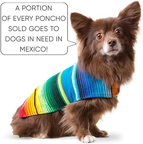 Handmade Dog Poncho from Mexican Serape Blanket - Dog Clothes - Coat - Costume - Sweater - Vest 48