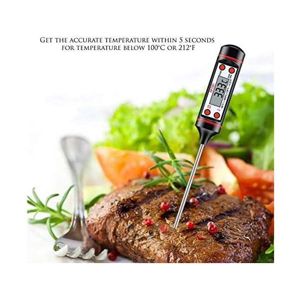 IAMXXYO 11PCS Barbecue Barbecue Tool Set con Termometro, Acciaio Inossidabile Grigliare Kit per La Cucina, Prefetto… 2 spesavip