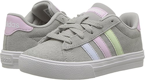 adidas Kids' Daily 2.0, Grey Two/Aero Pink/Aero Blue, 1.5 M US Little Kid