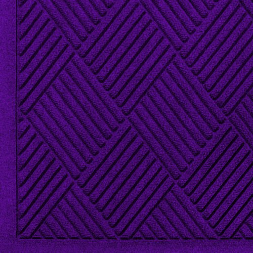 Andersen 221 Purple Polypropylene WaterHog Fashion Diamond Entrance Mat, 6' Length x 4' Width, For (Waterhog Fashion Diamond Mat)