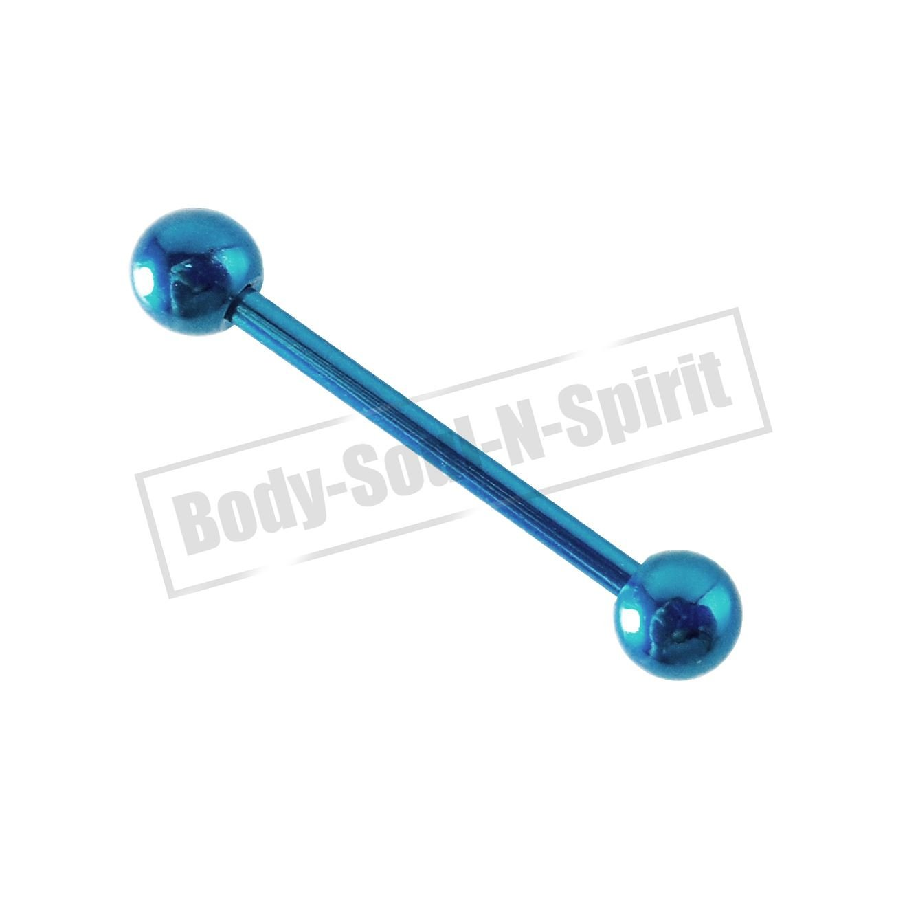 TONGUE BARS 18 mm balls barbell nipple PIERCING Sky RINGS BODY JEWELRY NEW body-soul-n-spirit