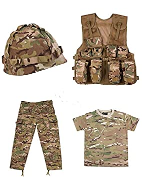 Kids Fancy Dress Ghillie Suit Army Camo Children/'s Sold Soldier Outfit
