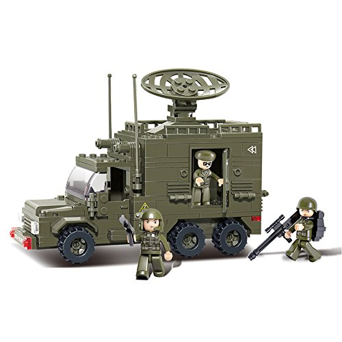 Sluban M38-B0300 Military Blocks Army Bricks Toy - Radar Car Army Radar