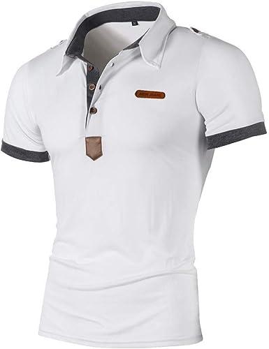 JURTEE Polos para Hombre Moda Camiseta De Solapa Slim Fit Remera ...