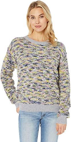 CeCe Women's Long Sleeve Pullover Boucle Sweater Confetti Pink Medium